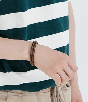 Magnetic Leather Bangle
